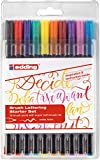 Edding 1340 Brush Pen, Rotuladores con punta tipo pincel variable – Ideal para mano Lettering, zendoodle, creativo pintar, 10 unidades