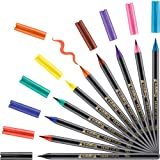 Edding 1340 Brush Pen, Rotuladores con punta tipo pincel variable–Ideal para mano Lettering, zendoodle, creativo pintar, 10unidades