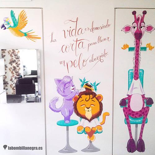 mural_peluqueria_infantil_lavallduixo