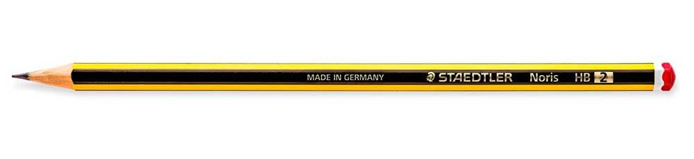 lápiz staedtler amarillo y negro
